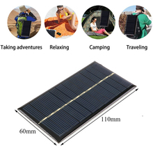 Sunydeal Solar Cells High Efficiency Traveling Camping Outdoor USB Solar Panel Charger 1W 6V Portable Home DIY Solar battery