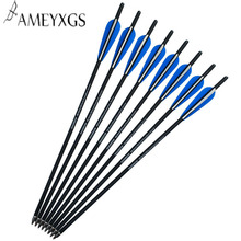 6pcs Archery 125 Grain Crossbow Arrows 20 Inch Carbon Bolts For Outdoor Shooting Hunting Accessories