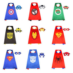 Children's Superman Hero Cape Children Boys Clothes Cloak Kids Halloween Show Holiday Costume Superman Hero Clothes