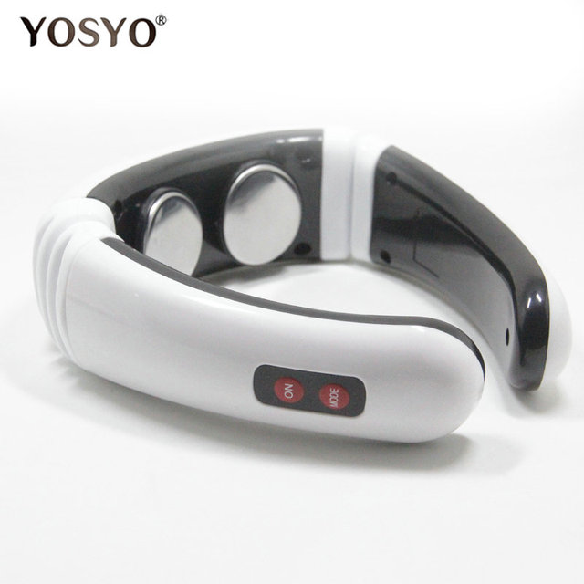 Electric Pulse Back and Neck Massager Far Infrared Heating Pain Relief Tool Health Care Relaxation 2