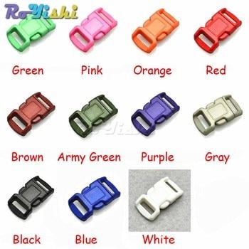"1100pcs/pack 3/8""(11mm) Colorful Contoured Side Release Buckles for paracord Bracelets/Backpack"