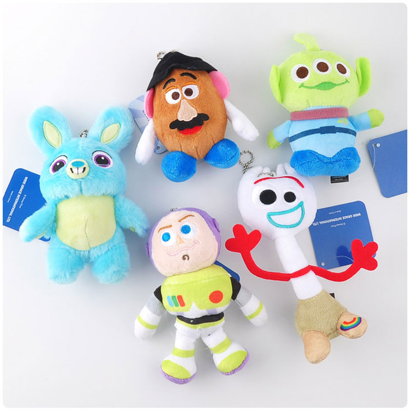 Cute Movie Story 4 Woody Buzz Lightyear Plush Doll Toys Keychain Figure Jessie Forky Alien Key Ring Toys for Children Gift
