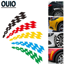 4PCS/2pair Universal Car Sticker Styling Engine Hood Motorcycle Decal Decoration Auto Sticker Car-styling Fashion Body Decals цены онлайн