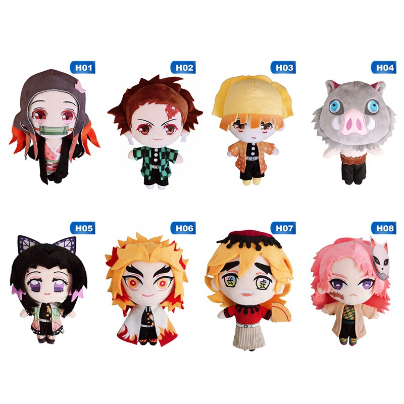 Demon Slayer: Kimetsu No Yaiba Sabito Agatsuma Zenitsu Cosplay Cute Dolls Figure Plush Toys