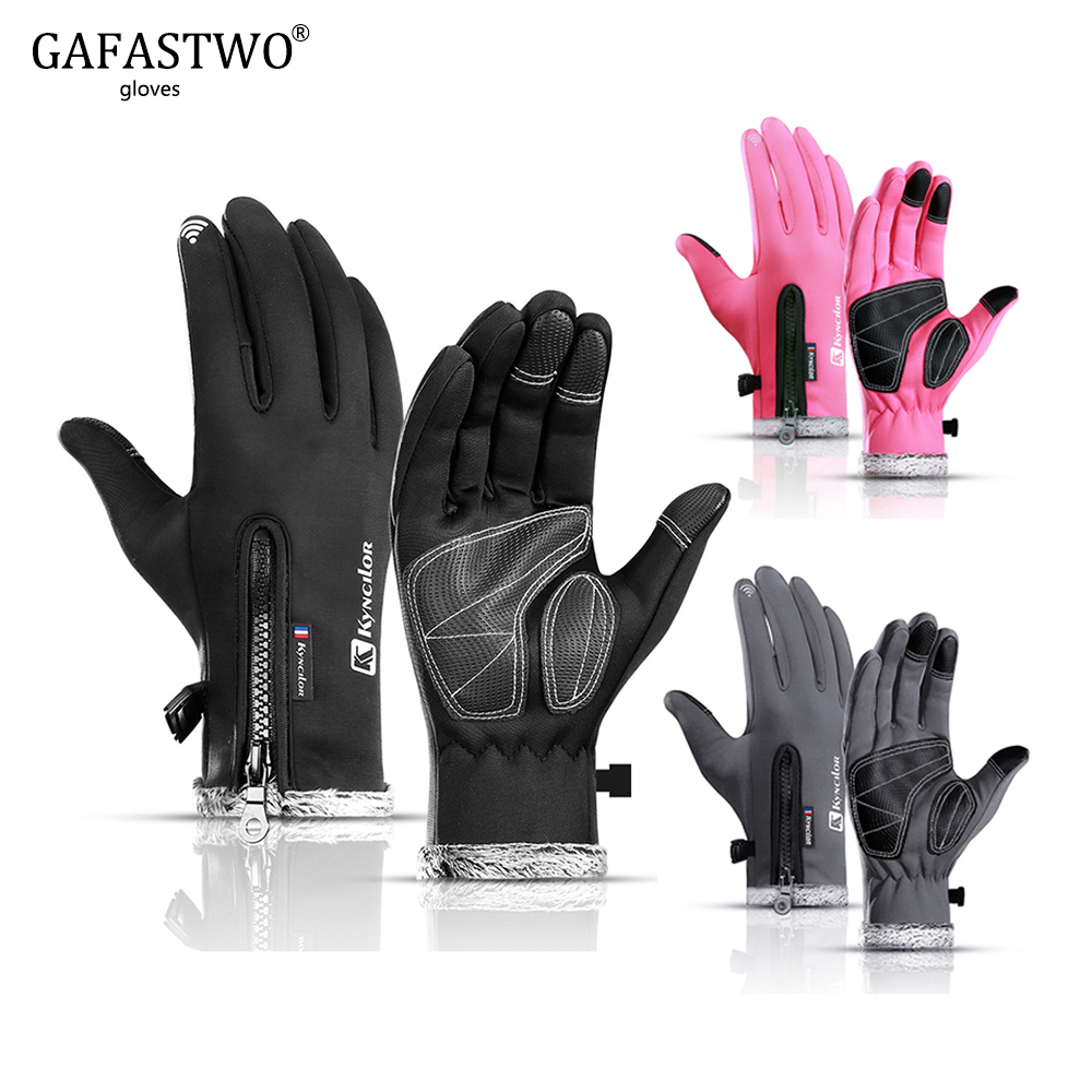Winter Warm Men Ski Gloves Ladies Touch Screen Gloves Fashion Waterproof Windproof Plus Velvet Outdoor Sports Women Gloves