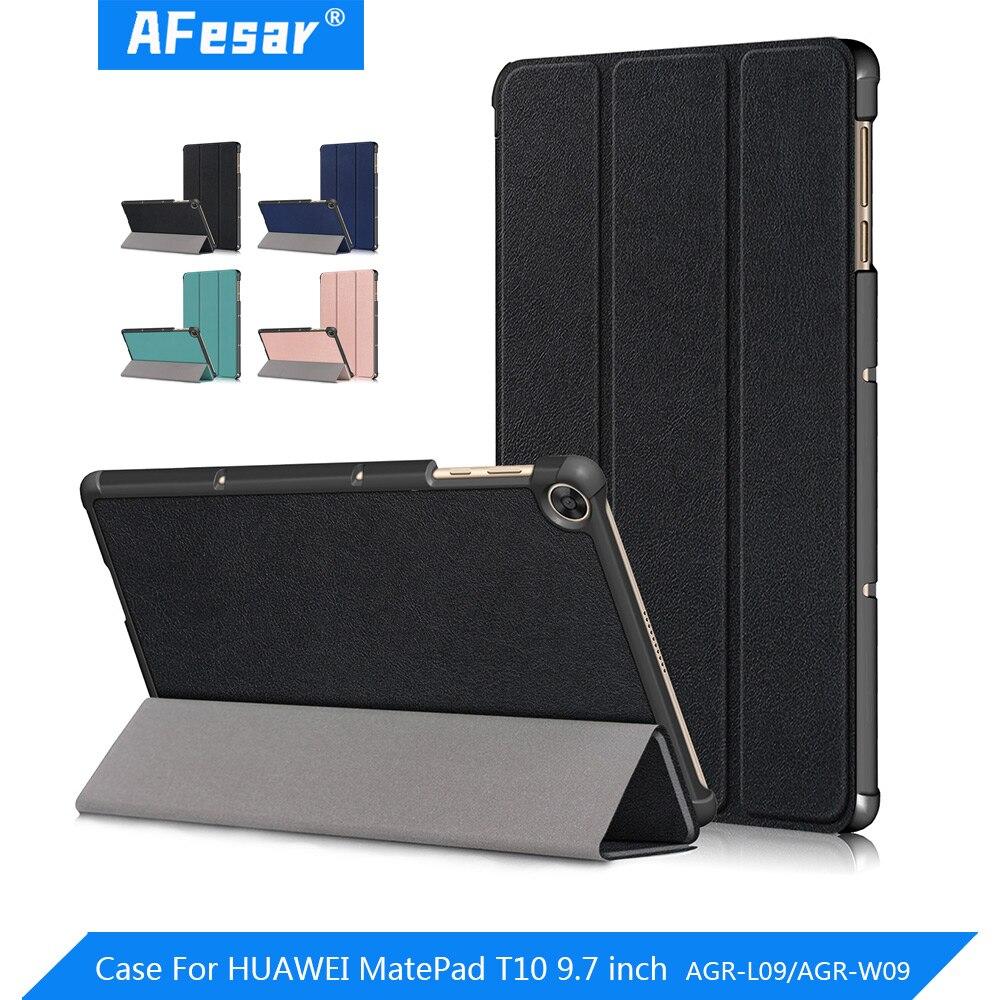 Чехол для Huawei Matepad T10 9,7 дюймов Чехол AGR-L09 / AGR-W09 Планшет ультра тонкий PU кожаный магнитный чехол с подставкой