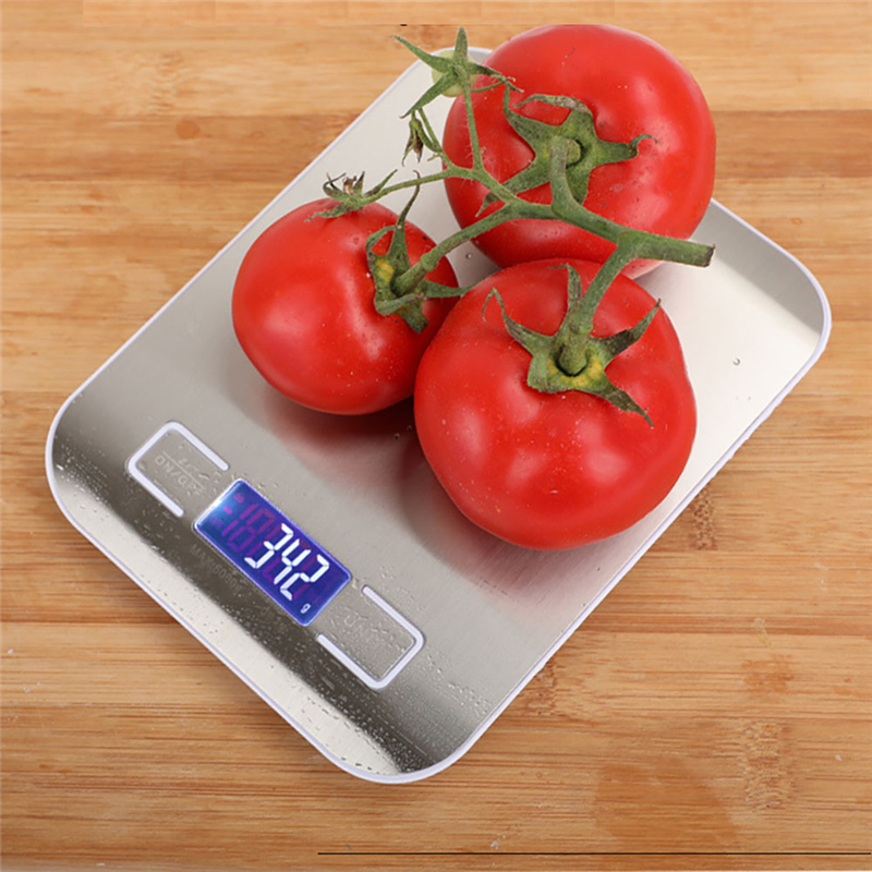 Kitchen Scale Stainless Steel Weighing Scale Smart Appliances 1g Food Diet 10KG/5KG Household LCD Electronic Scales