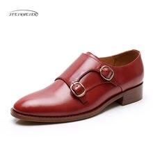 Туфли оксфорды yinzo женские натуральная кожа на плоской подошве