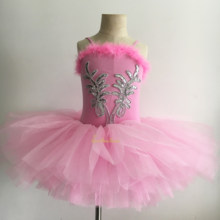 Fille Ballet Tutu robe de danse enfants rose cygne lac robe de Ballet Bailarina scène Performance Costume adulte Dancewear(China)