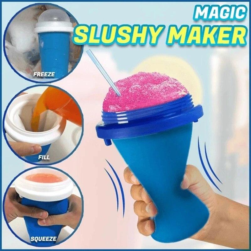 Quick-Smoothies congelados Recém Durável Fabricante do Creme de Gelo Lamacento Smoothie Copo Milkshake de Copo De Refrigeração Garrafa Squeeze Magia Fabricante Lamacento