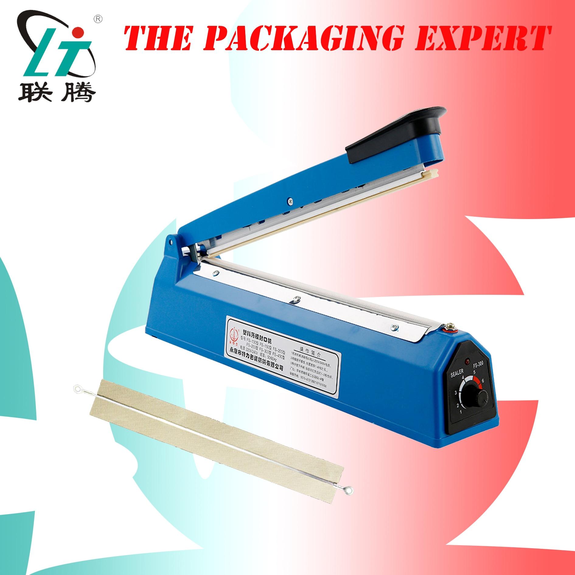 Hand Pressing Pouch Sealer Manual Impulse Sealing Machine Film Aluminum Plastic Bag Heating Sealer Heat Poly Bag Free Shipping