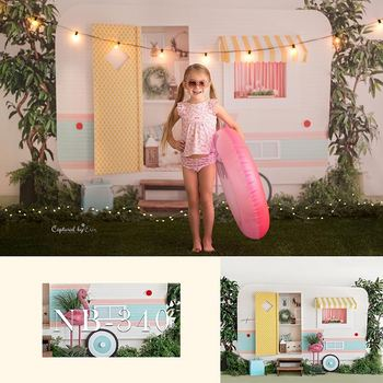 Summer Theme Flamingo Photography Backdrops RV Decoration Children's Birthday Photo Props Studio Booth Background 60x84 inches flowers theme photography backdrops party background for wedding baby birthday decoration photo wall studio props