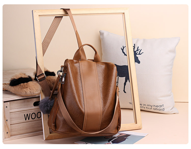 H7eae6cba07dc4a43b718f8446d102648e 2019 Women Leather Anti-theft Backpacks High Quality Vintage Female Shoulder Bag Sac A Dos School Bags for Girls Bagpack Ladies