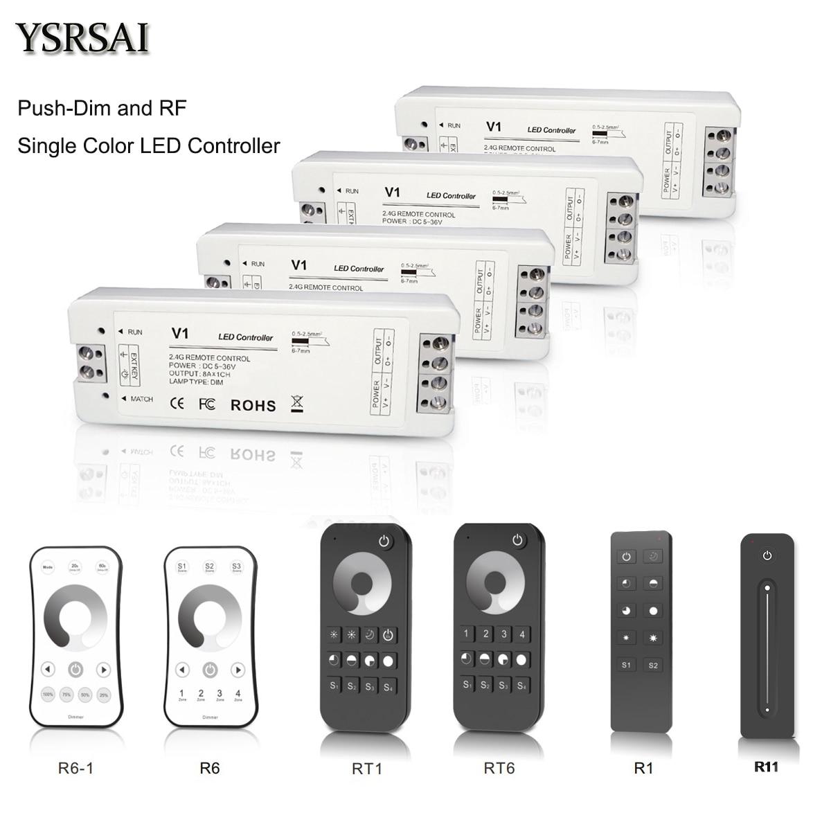 MNI 5V 12V 24V Wireless LED Strip Light Remote Switch Controller Dimmer