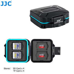 Image 2 - JJC Camera Memory Card Case Holder Storage Box Organizer for 4 SD SDHC SDXC 4 Micro SD TF Cards with Card Removal Tool & Lanyard