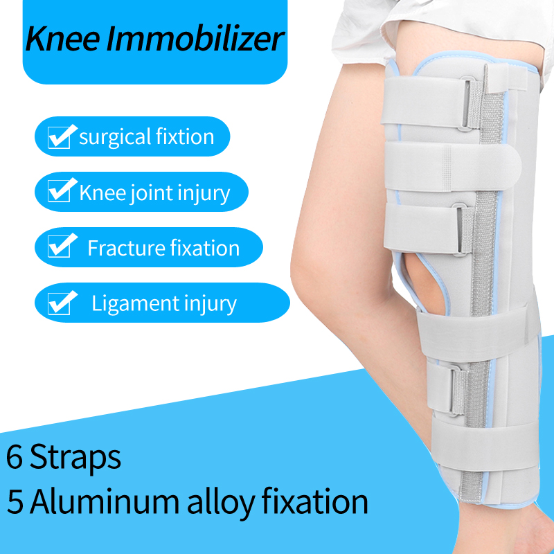 Knee Immobilizer For Adults & Kids Knee Brace Fracture Fixation Ligament Strain Support Knee Joint Injury Surgery Knee Orthosis
