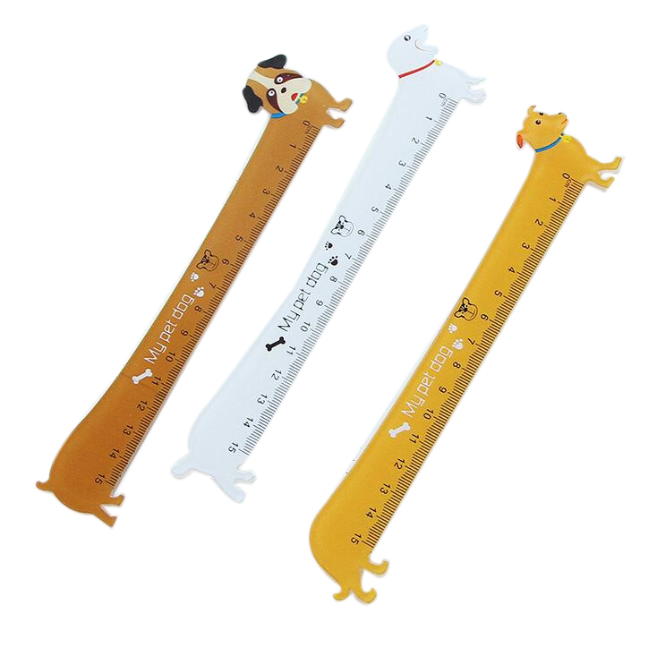 3 Pieces Kawaii Cute Lovely Puppy Dog Plastic Straight Ruler Study Student Stationery School Supplies Gift