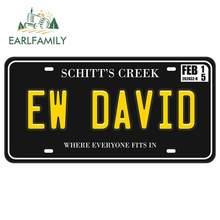 EARLFAMILY 13cm x 6.9cm for Ew David Schitts Creek Car Sticker Anime Waterproof Anime Laptop Scratch-proof Decal Vinyl Car Wrap