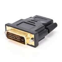DVI 24 + 1 macho a HDMI hembra convertidor chapado en oro adaptador para HDTV 1080P LCD DVI-D