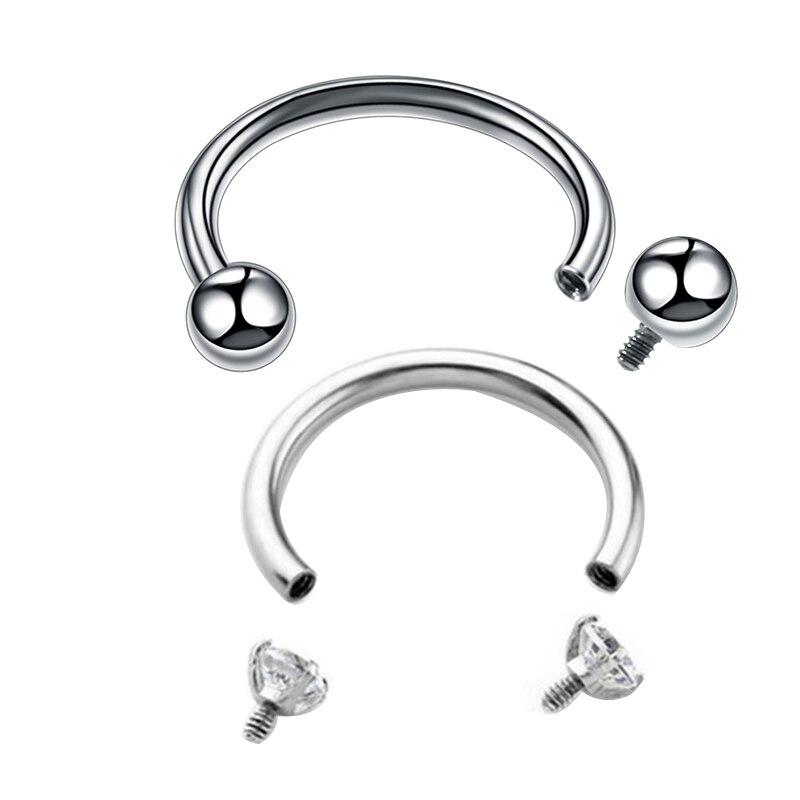 Kridzisw 18G Nose Rings Hoop Stainless Steel L-Shaped Nose Rings Studs Screw Clear Clicker Retainer Tragus Cartilage Helix Earrings Piercing Hoop 21pcs