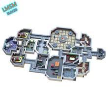 Modular amongeado eua o skeld mini mapa modelo blocos de construção moc jogo mapa tijolos construtor coleção crianças brinquedos presentes