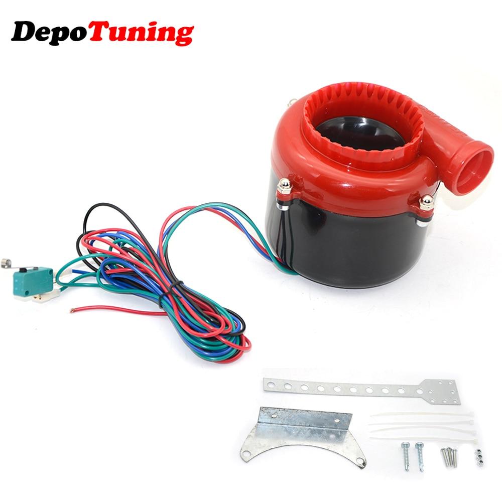 DePoTuning Universal Electronic Turbo Car Fake Dump Valve Turbo Blow Off Valve Sound Electric Turbo Blow Off Analog Sound BOV