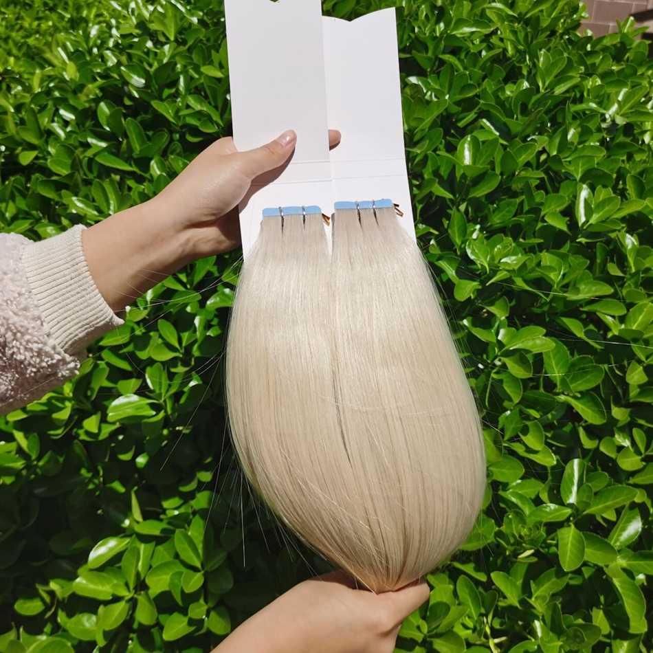 "Isheeny Remy Human Hair Tape Extensions 12 ""-22"" Skin Weft Naadloze Europese Haar Monsters Voor Salon Hair 20 Pcs"