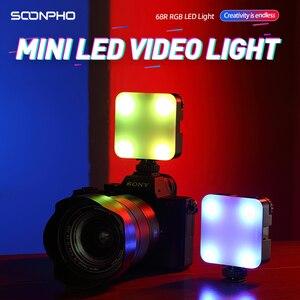 Image 3 - 6W Mini RGB LED Video işığı Tripod ile 2700K 6500K kamera dolgu işığı fotoğrafçılığı aydınlatma için Tiktok Vlog işık lambası