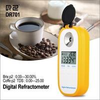 RZ Цифровой рефрактометр Брикса измеритель сахара кофе TDS 0 25% рефрактометр концентрации цифровой электронный рефрактометр
