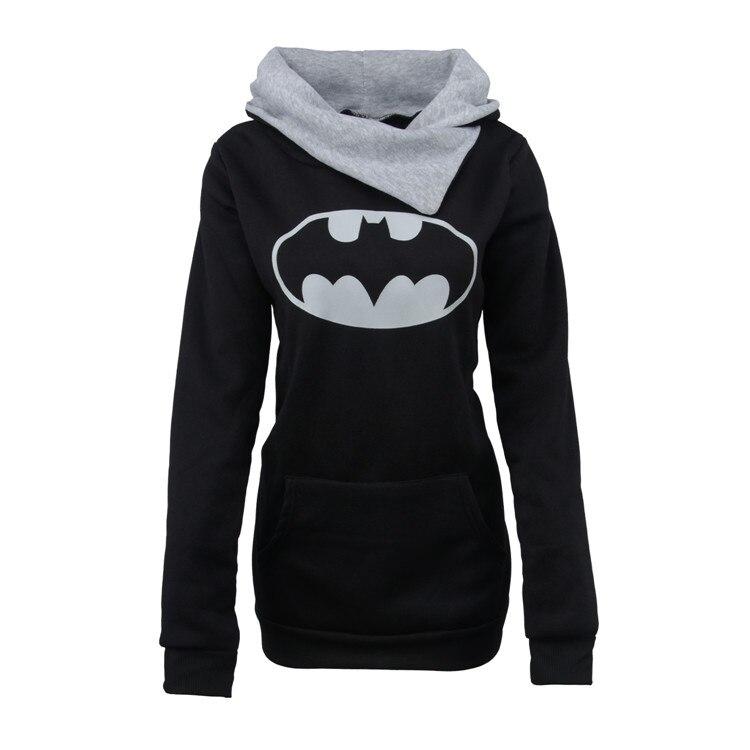 0409 # Batman Printed Hoodie Long Sleeve Heap Collar Pullover Hoody 2020 New