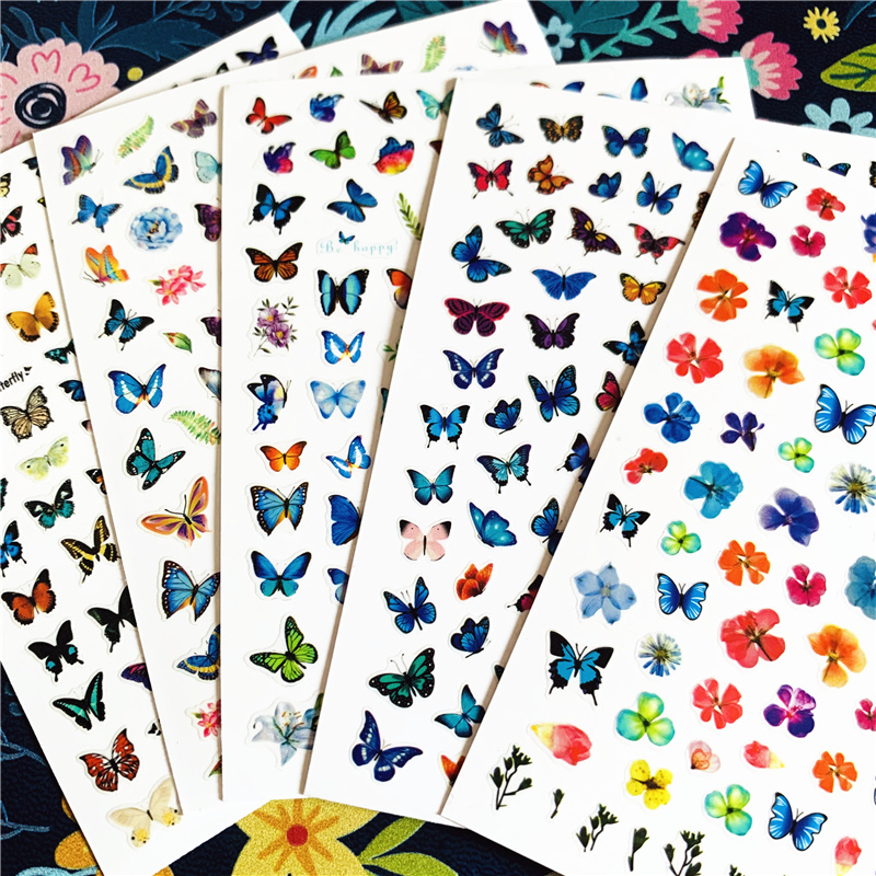 Newest WG-230 Butterfly Series 3d nail art sticker nail decal stamping export japan designs rhinestones decorations