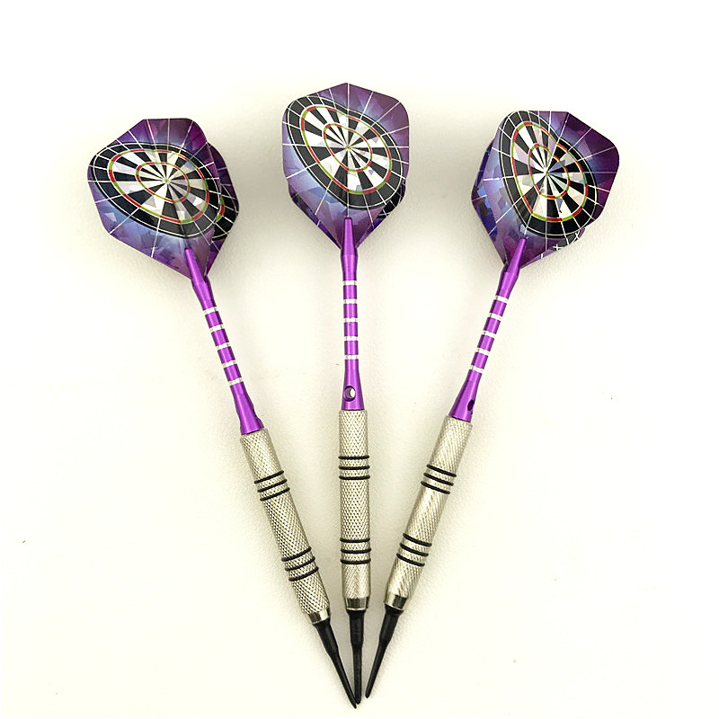 New 3 Piece / Set 14g Professional Silver Plated Soft Tip Darts Darts Flight Sports Darts Axis