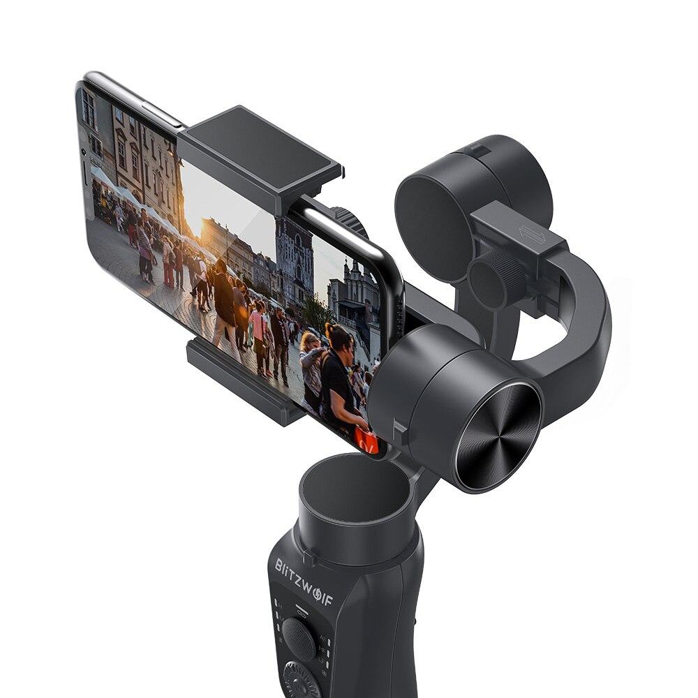 BlitzWolf BW BS14 3 осевой портативный Bluetooth стабилизатор карданного подвеса для iPhone Youtube Vlog Xiaomi Huawei Мобильные телефоны Смартфон Прямая трансляция В... - 4
