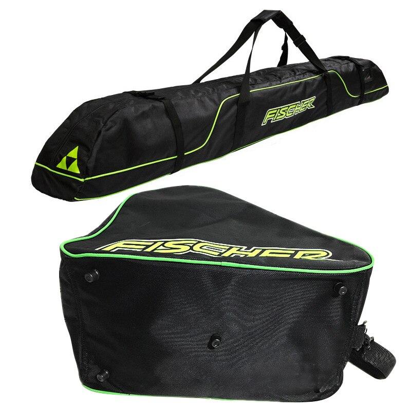 Ski Bag Protection Belt Fixed Backpack Ski Long Board Package Ski Shoes Bag Double Board Package 175cm