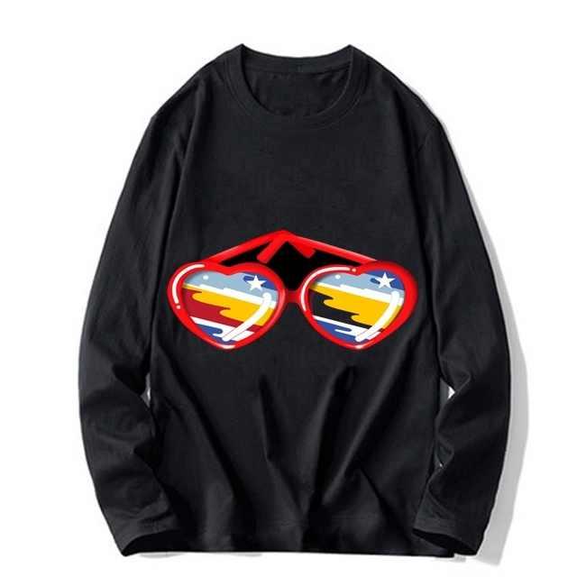 Lala land occhiali da sole t-shirt da uomo autunno nuovo hip hop camicia Camisetas Hombre Streetwear cotone a maniche lunghe t shirt
