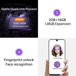 """Image 4 - OUKITEL C16 5.71 """"HD + 19:9 水滴スマートフォン指紋アンドロイド 9.0 携帯電話 MT6580P 2 グラム RAM 16 グラム ROM 2600mAh 解除"""