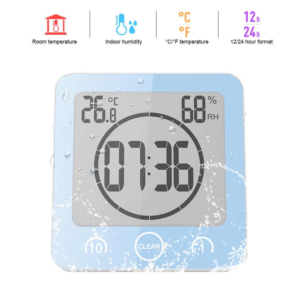 ЖК цифровые водонепроницаемые для брызг воды настенные часы ванной душа таймер