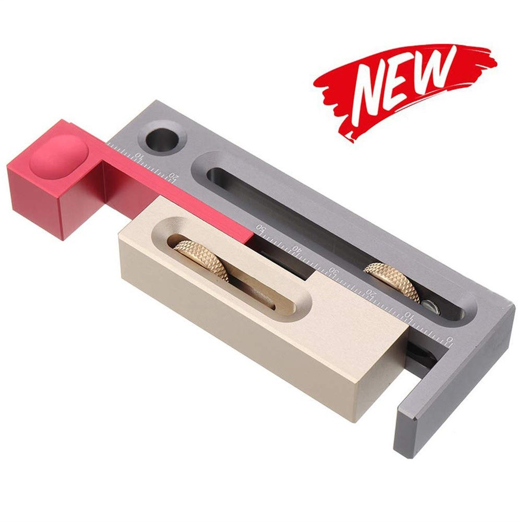 Table Saw Slot Adjuster Mortise And Tenon Tool Movable Measuring Block Length Dropshipping Winter 2020 Decoration Accessories To
