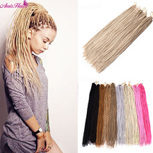 Hair-Extensions Dreadlocks Crochet-Braids Synthetic Black Amir Pink White Soft 22-24strands/Pack