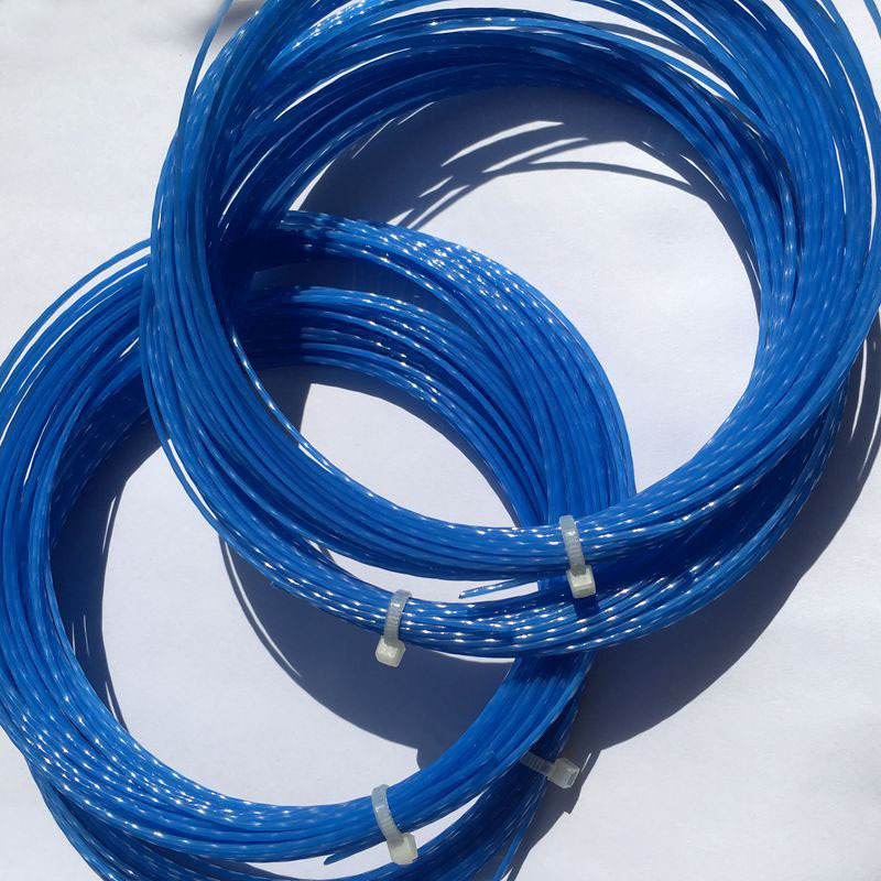 1 Pc Free Shipping (Blue) Hexaspin Twister Polyester Tennis Strings 1.23mm 16G Tennis Racket String