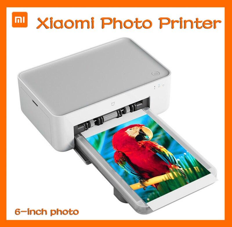 Миниатюрный фотопринтер Xiaomi с беспроводным дистанционным управлением, цветная фотобумага HD 6 дюймов, Bluetooth, Xiaomi Mijia