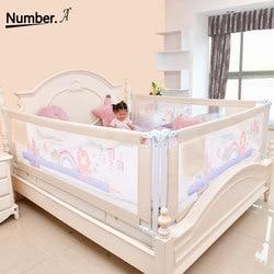 Ограждение для детской кровати, манеж для детей, ограждение для кровати, защитный барьер для дома, складная защита для детей, ограждение для ...
