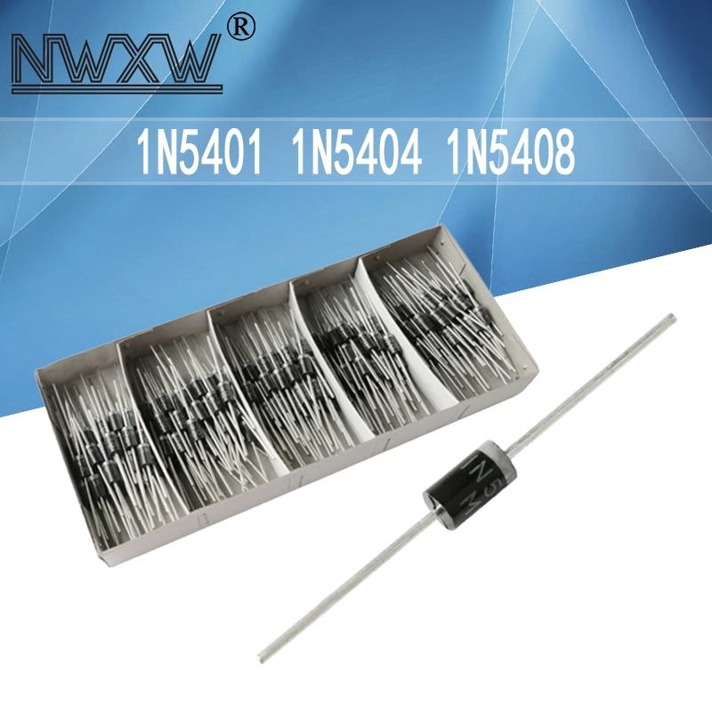 20pcs/lot In-line 1N5401 1N5404 1N5408 DO-201AD 100V/400V/1000V rectifier diode universal rectifier