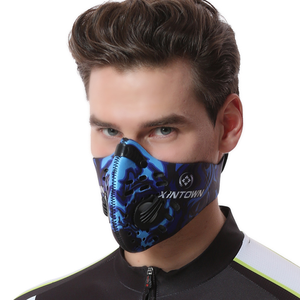 1Pc Motorcycle Mask Windproof Dustproof Anti Fog Activated Carbon Face Cover Cycling Scarf Face Cover Ski Sports Masks