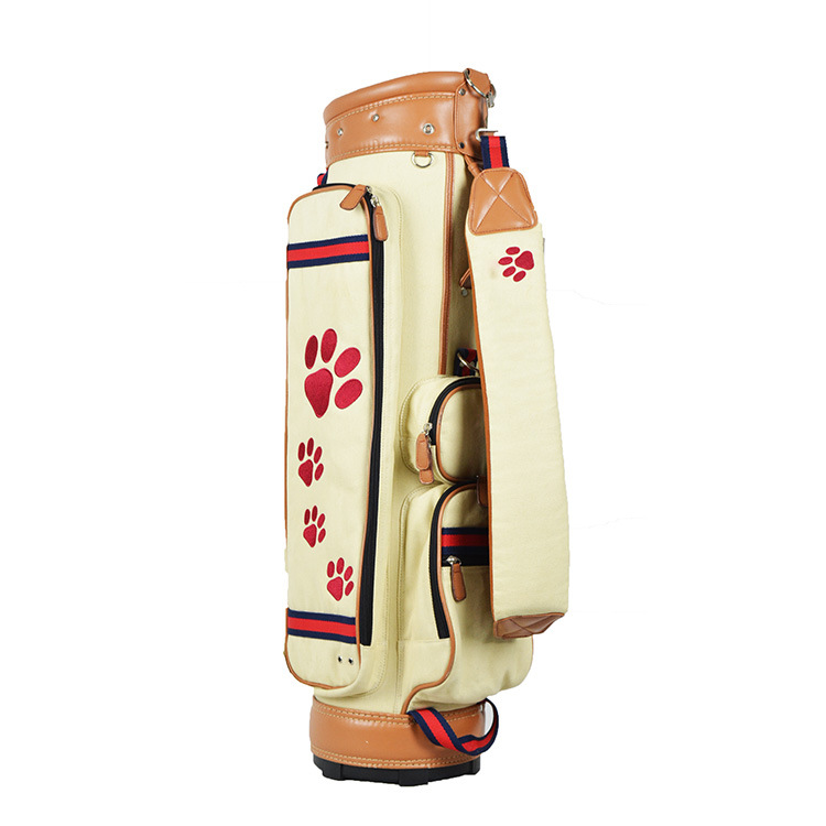 Cross Border Hot Sales-Canvas Golf Club Bag Caddie Bag Golf Multi-functional Golf Bag Manufacturers Direct Selling