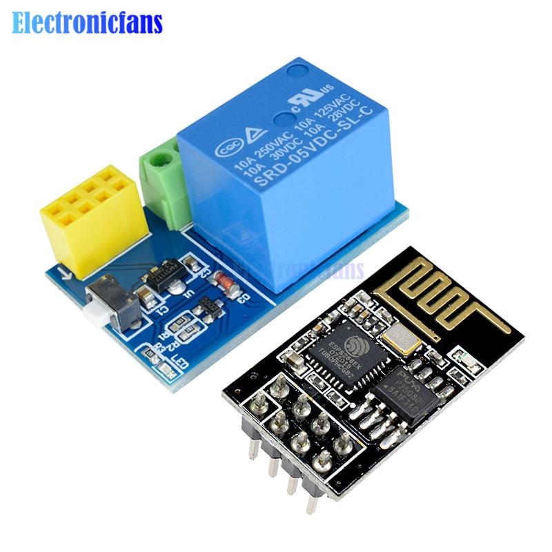 1 x ESP8266 ESP-01S WiFi 5 V Relais Module Smart Home Télécommande Déverrouillage