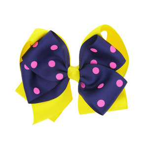 Hair Accessories For Girls Hairclip Fashion Baby Girls Big Bowknot Hairpin Headdress Lovely Multicolor Dot Delicate Clip