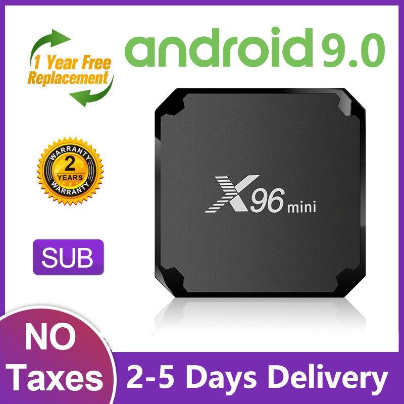 X96 MINI TV Box Android 9.0 Amlogic S905W SUB Full HD Smart TV Box 1G 8G 2.4G WiFi X96mini Android TVBox 2G 16G 4K Media Player