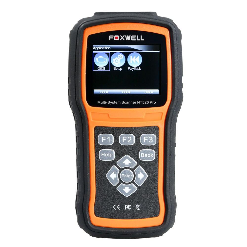 Foxwell NT520 Pro Multi-System Scanner mit Freies Merc-edes für Benz Software und Extra Foxwell für Benz 38Pin Verlängerung Kabel