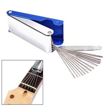 DIY Guitar Repair Tools Box Guitar Nut Slotting File Saw Rods Slot Filing Set Luthier Replacement Guitarra Accessories 13 sizes guitar nut slotting file saw rods slot filing set luthier replacement guitar accessories